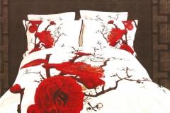 posciel-3d-biala-czerwone-kwiaty