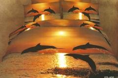 posciel-3d-delfiny-zachod-slonca