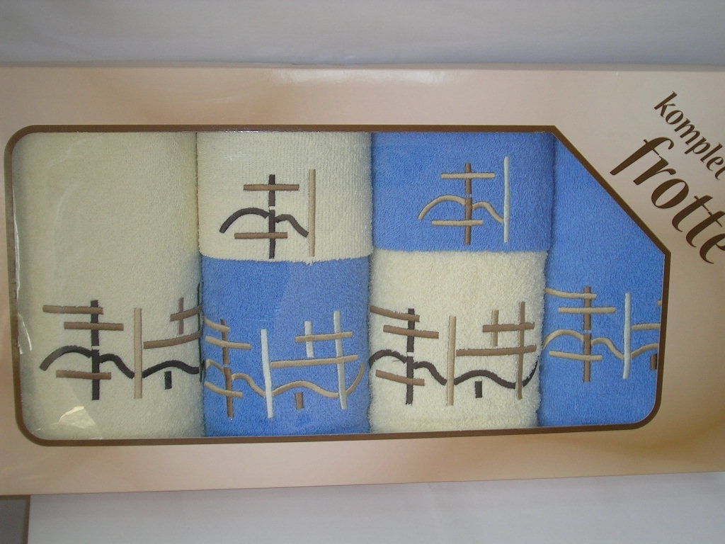 Ręczniki z aplikacją w pudełkach